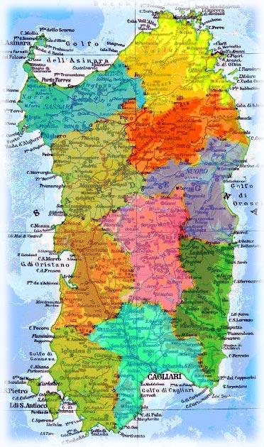 Cartina Sardegna Fiumi.Sardolog Sardegna E Atlantide
